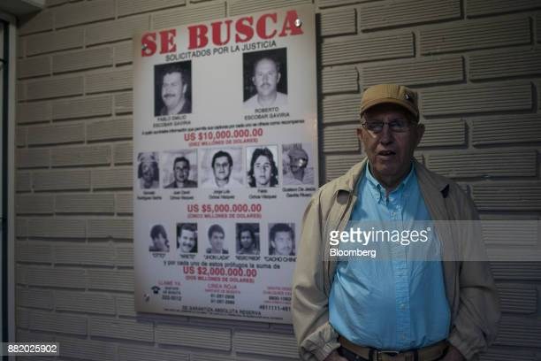 Roberto Escobar brother of narcotics kingpinPablo Escobar stands for a photograph at the Casa Museo Pablo Escobar in Medellin Colombia on Tuesday...
