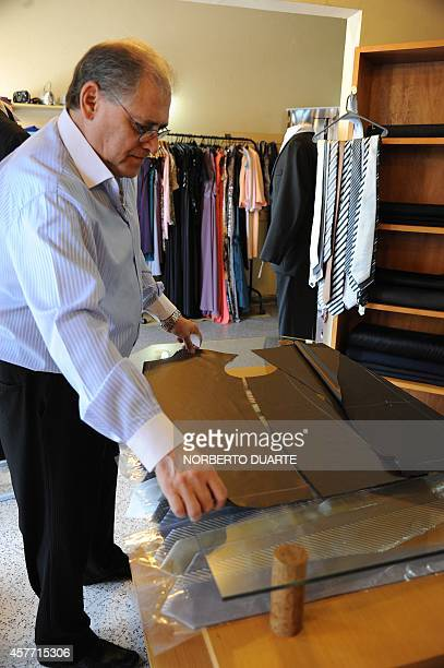 Roberto Espinola owner of a chain of tailor shops in Paraguay who launched a line of pocketless men suits to be worn as a protest against corruption...