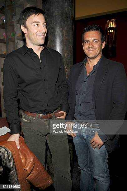 Roberto Faraone Mennella and Amedeo Scognamiglio attend Bella Movie Screening and Dinner at Los Dados on May 13 2008 in New York City
