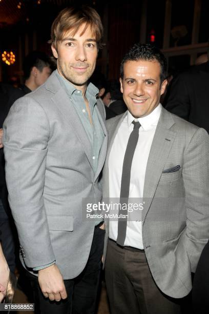 Roberto Faraone Mennella and Amedeo Scognamiglio attend Benetton presents the It's My Time campaign at the Top of The Standard on April 15th 2010 in...