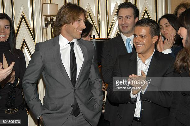 Roberto Faraone Mennella and Amedeo Scognamiglio attend BERGDORF GOODMAN and The Italian Trade Commission host a dinner with the Young Friends of...