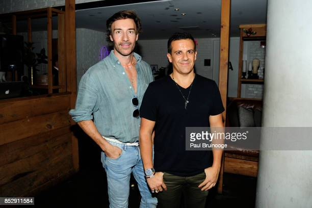 Roberto Faraone Mennella and Amedeo Scognamiglio attend NBC Vanity Fair host a party for Will Grace at Mr Purple at the Hotel Indigo LES on September...