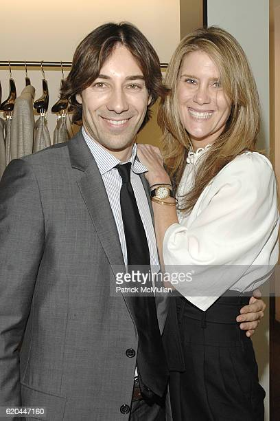 Roberto Faraone Mennella and Linda Davis attend CAROLINA HERRERA New York Preview Of The Jewelry Collection Designed for Carolina Herrera at Carolina...