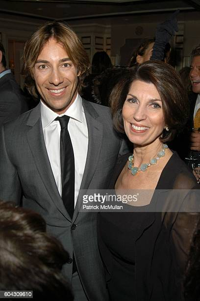 Roberto Faraone Mennella and Pamela Fiori attend BERGDORF GOODMAN and The Italian Trade Commission host a dinner with the Young Friends of Save...