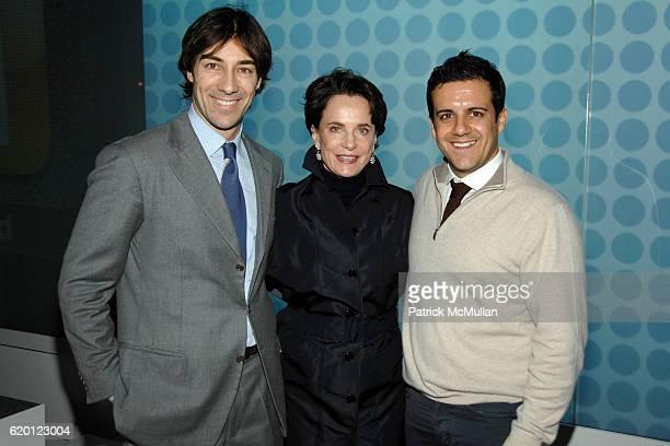 Roberto Faraone Mennella Nancy Novogrod and Amedeo Scognamiglio attend TRAVEL LEISURE 2008 Design Awards at IAC Building on February 12 2008 in New...
