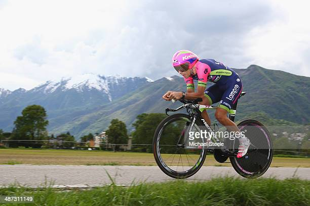 Roberto Ferrari of Italy and Team Lampre-Merida during the 5.57km Prologue stage of the Tour de Romandie on April 29, 2014 in Ascona, Switzerland.
