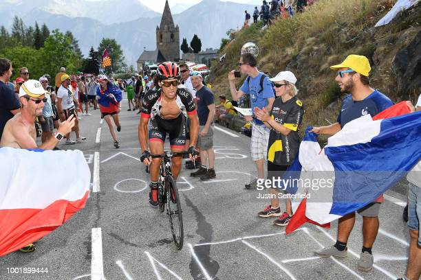Roberto Ferrari of Italy and UAE Team Emirates / Alpe d'Huez / Public / Fans / during the 105th Tour de France 2018, Stage 12 a 175,5km stage from...