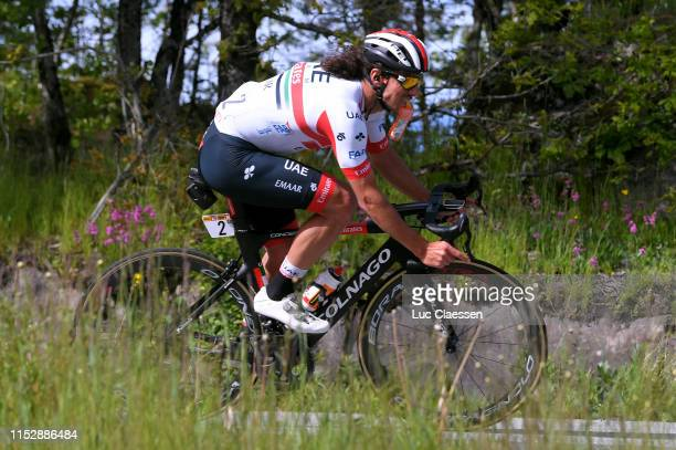 Roberto Ferrari of Italy and UAE - Team Emirates / Feeding / during the 9th Tour of Norway 2019 - Stage 4 a 224,4km stage from Arendal to Sandefjord...