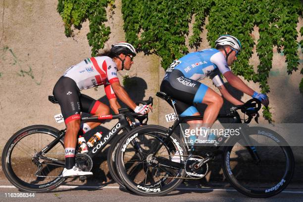 Roberto Ferrari of Italy and UAE Team Emirates / Nathan Earle of Australia and Team Israel Cycling Academy / during the 2nd Adriatica Ionica Race...