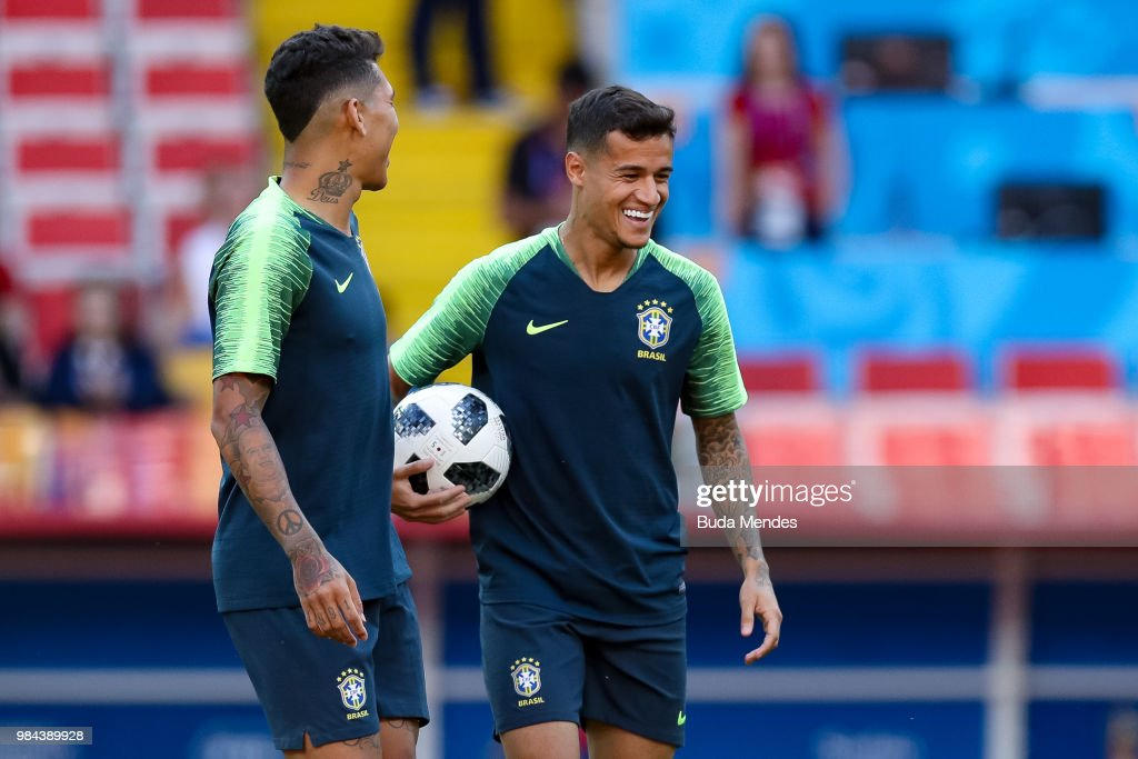 Brazil Training and Press Conference - FIFA World Cup Russia 2018 : News Photo