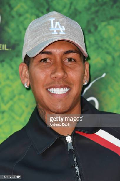Roberto Firmino attends the Cirque Du Soleil's OVO Premiere at The Liverpool Echo Arena on August 16 2018 in Liverpool England