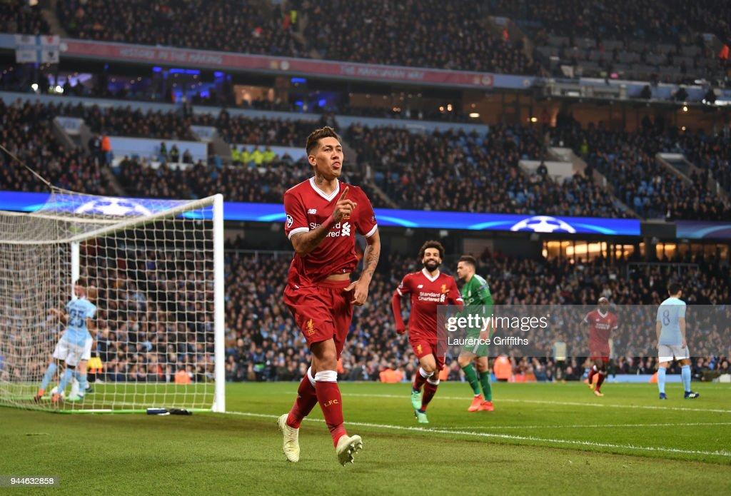 Manchester City v Liverpool - UEFA Champions League Quarter Final Second Leg : News Photo