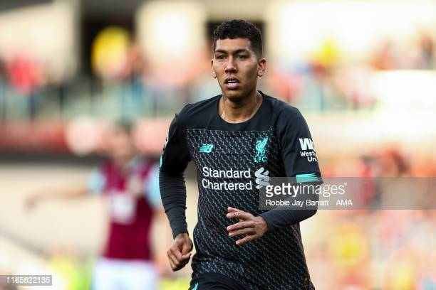 Roberto Firmino of Liverpool during the Premier League match between Burnley FC and Liverpool FC at Turf Moor on August 31 2019 in Burnley United...