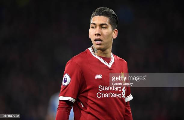 Roberto Firmino of Liverpool during the Premier League match between Huddersfield Town and Liverpool at John Smith's Stadium on January 30 2018 in...
