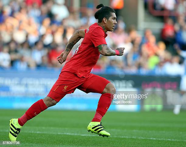 Roberto Firmino of Liverpool during the PreSeason Friendly match between Huddersfield Town and Liverpool at the Galpharm Stadium on July 20 2016 in...