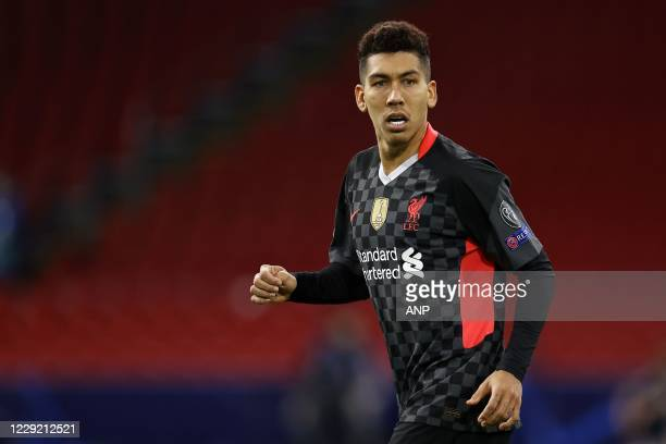 AMSTERDAM Roberto Firmino of Liverpool FC during the UEFA Champions League match in group D between Ajax Amsterdam and Liverpool FC at the Johan...