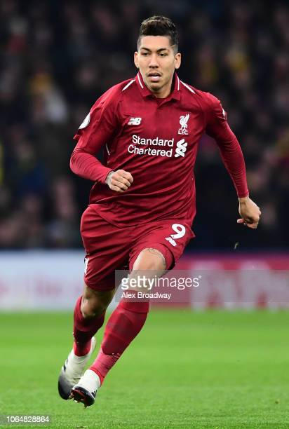 Roberto Firmino of Liverpool in action during the Premier League match between Watford FC and Liverpool FC at Vicarage Road on November 24 2018 in...