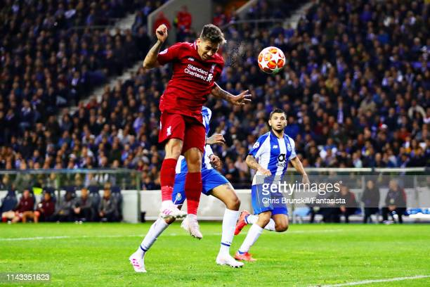 Roberto Firmino of Liverpool scores his sides third goal during the UEFA Champions League Quarter Final second leg match between Porto and Liverpool...