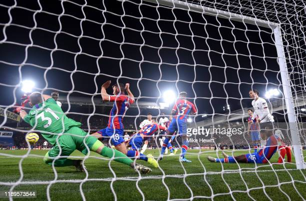 Roberto Firmino of Liverpool scores his team's second goal during the Premier League match between Crystal Palace and Liverpool FC at Selhurst Park...