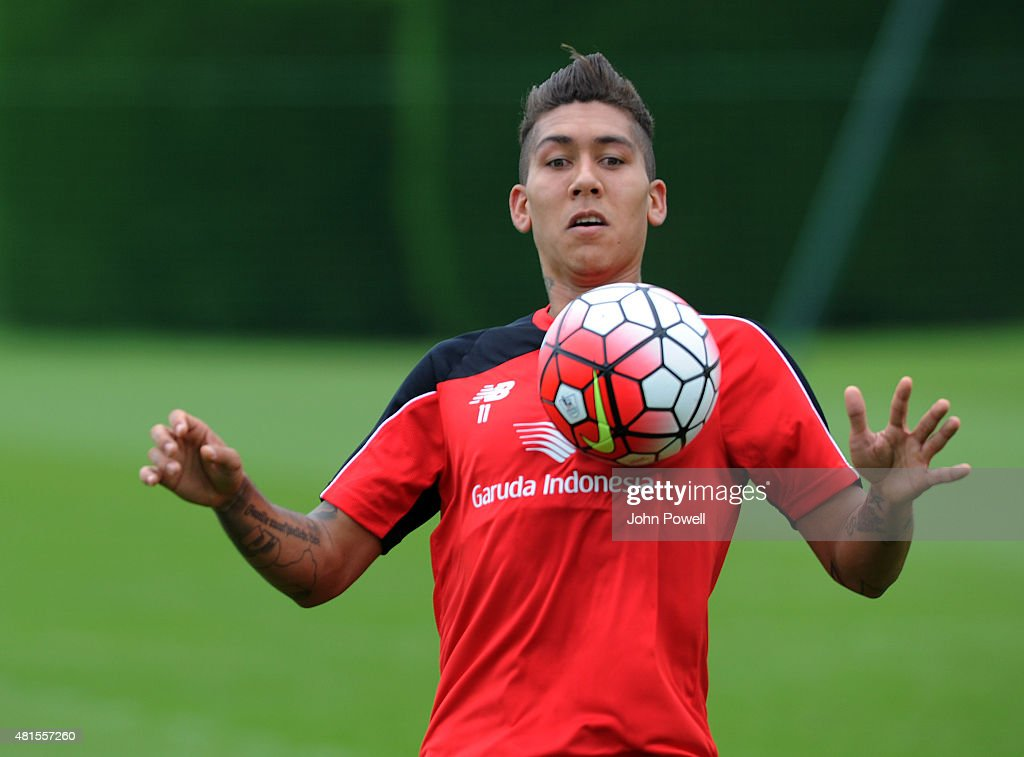 Roberto Firmino Arrives for His First Day at Liverpool FC : News Photo