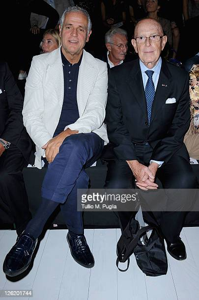 Roberto Formigoni and Mario Boselli attend the Iceberg Spring/Summer 2012 fashion show as part of Milan Womenswear Fashion Week on September 23 2011...