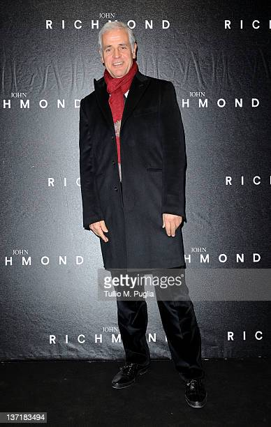Roberto Formigoni arrives at John Richmond fashion show as part of Milan Fashion Week Menswear Autumn/Winter 2012 on January 16 2012 in Milan Italy