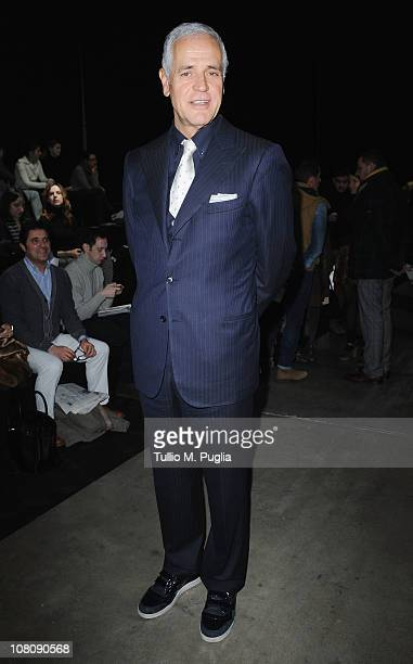 Roberto Formigoni attends the Iceberg Fashion Show as part of Milan Fashion Week Menswear A/W 2011 on January 17 2011 in Milan Italy