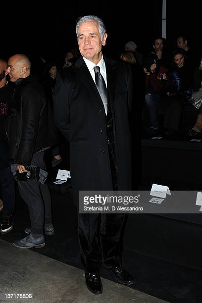 Roberto Formigoni attends the Iceberg fashion show as part of Milan Fashion Week Menswear Autumn/Winter 2012 on January 16 2012 in Milan Italy
