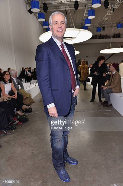 Roberto Formigoni attends the Iceberg Show as part of Milan Fashion Week Womenswear Autumn/Winter 2014 on February 21 2014 in Milan Italy