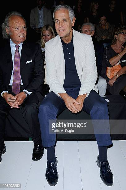 Roberto Formigoni attends the Iceberg Spring/Summer 2012 fashion show as part of Milan Womenswear Fashion Week on September 23 2011 in Milan Italy