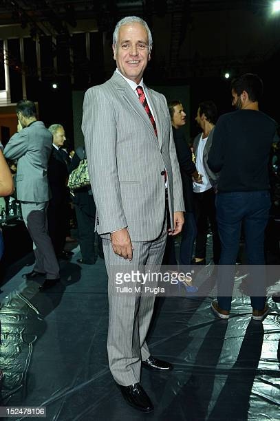 Roberto Formigoni attends the Iceberg Spring/Summer 2013 fashion show as part of Milan Womenswear Fashion Week on September 21 2012 in Milan Italy