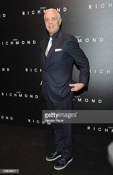 Roberto Formigoni attends the John Richmond Fashion Show as part of Milan Fashion Week Menswear A/W 2011 on January 17 2011 in Milan Italy