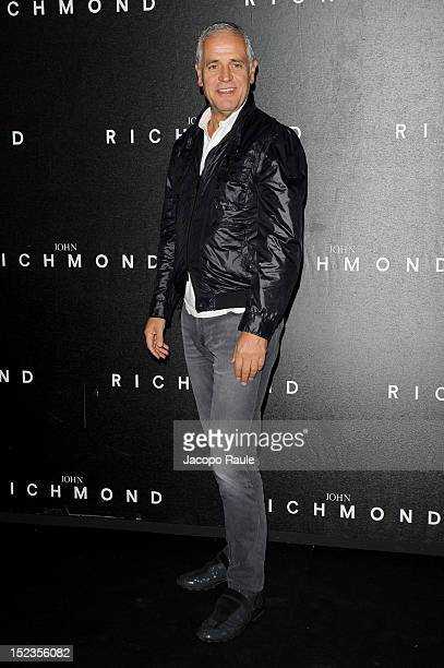 Roberto Formigoni attends the John Richmond Spring/Summer 2013 fashion show as part of Milan Womenswear Fashion Week on September 19 2012 in Milan...