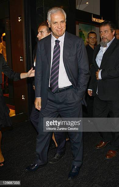 Roberto Formigoni attends the Pirelli Corso Venezia flagship store opening on September 20 2011 in Milan Italy