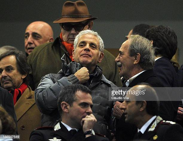 Roberto Formigoni attends the Serie A match between AC Milan and Juventus FC at San Siro Stadium on November 25 2012 in Milan Italy