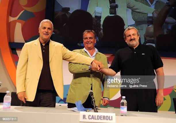 Roberto Formigoni Governor of Lombardy Roberto Calderoli Minister of Italian Government Michele Emiliano the Major of Bari pose during the 30th...