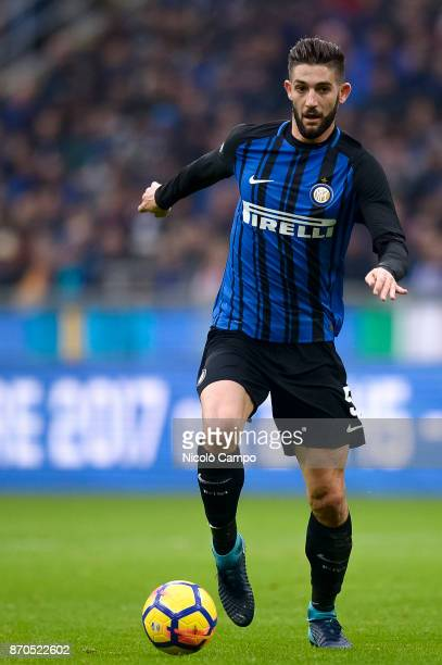 Roberto Gagliardini of FC Internazionale in action during the Serie A football match between FC Internazionale and Torino FC The match ended in a 11...