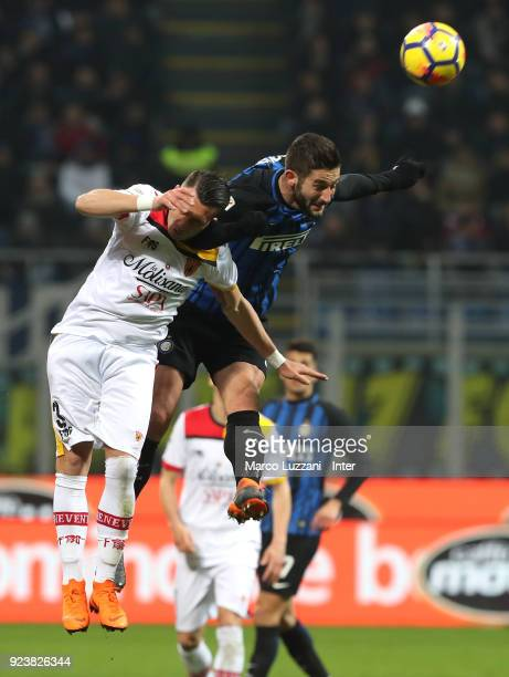 Roberto Gagliardini of FC Internazionale in action during the serie A match between FC Internazionale and Benevento Calcio at Stadio Giuseppe Meazza...