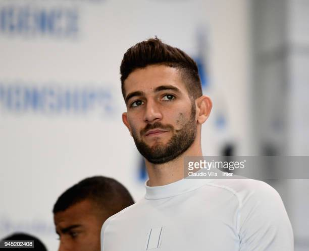 Roberto Gagliardini of FC Internazionale looks on during the FC Internazionale training session at the club's training ground Suning Training Center...