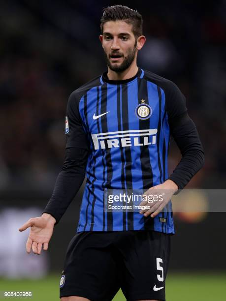 Roberto Gagliardini of Internazionale during the Italian Serie A match between Internazionale v AS Roma at the San Siro on January 21 2018 in Milan...