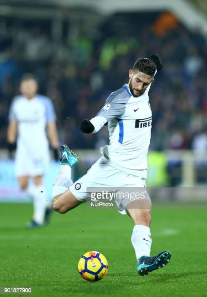 Roberto Gagliardini of Internazionale during the serie A match between ACF Fiorentina and FC Internazionale at Stadio Artemio Franchi on January 5...