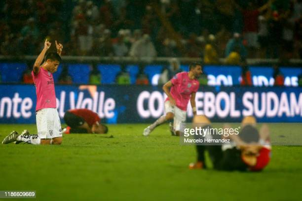 Roberto Garces of Independiente del Valle celebrates after winning the final of Copa CONMEBOL Sudamericana 2019 between Colon and Independiente del...