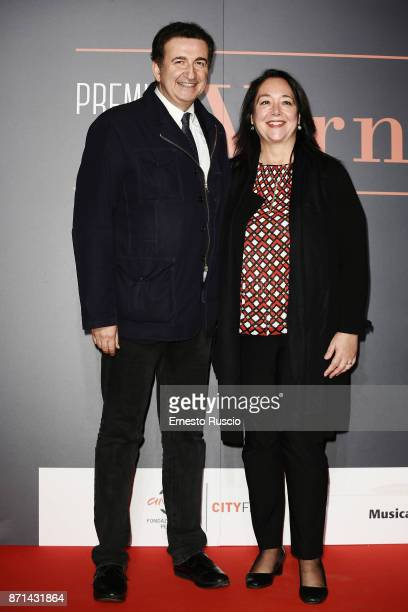 Roberto Giacobbo and Irene Bellini attend The Virna Lisi Award at Auditorium Parco Della Musica on November 7 2017 in Rome Italy