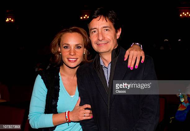 Roberto Gomez Fernandez and Jessica Coch during the theater play Chavo at Metropolitan Theater on December 3 2010 in Mexico City Mexico