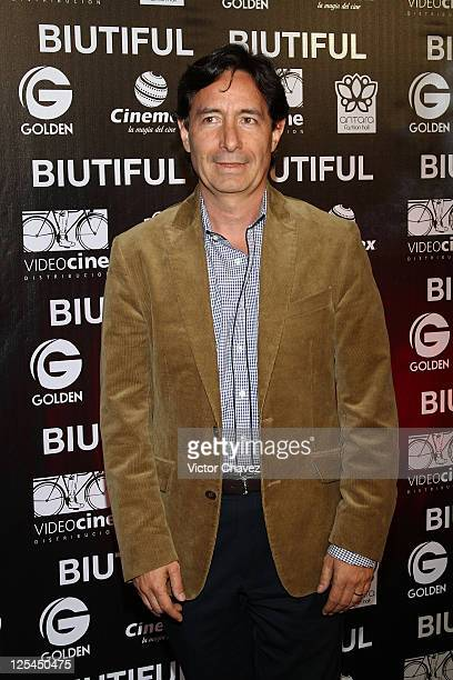 Roberto Gomez Fernandez attends the Mexico City Premiere of Biutful at Cinemex Antara Polanco on October 18 2010 in Mexico City Mexico