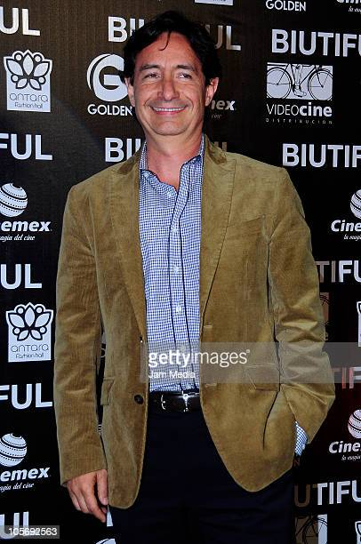 Roberto Gomez Fernandez during the red carpet of the movie Biutiful at Cinemex Antara on October 18 2010 in Mexico City Mexico