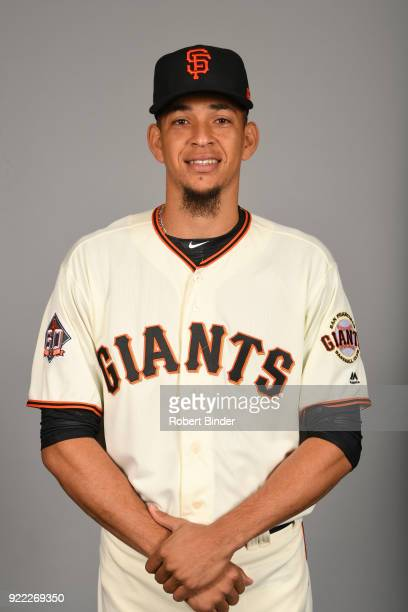 Roberto Gomez of the San Francisco Giants poses during Photo Day on Tuesday February 20 2018 at Scottsdale Stadium in Scottsdale Arizona