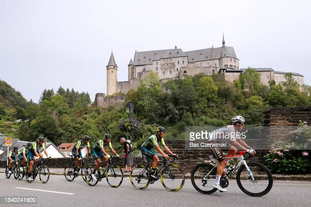 Roberto González of Panama, Leonardo Tortomasi of Italy and Team Vini Zabu' Brado KTM, Bob Jungels of Luxembourg and AG2R Citröen Team and The...