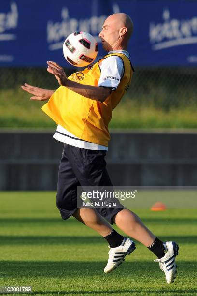 Roberto Guana of Palermo in action during a Palermo training session at Sportarena on July 20 2010 in Bad Kleinkirchheim Austria