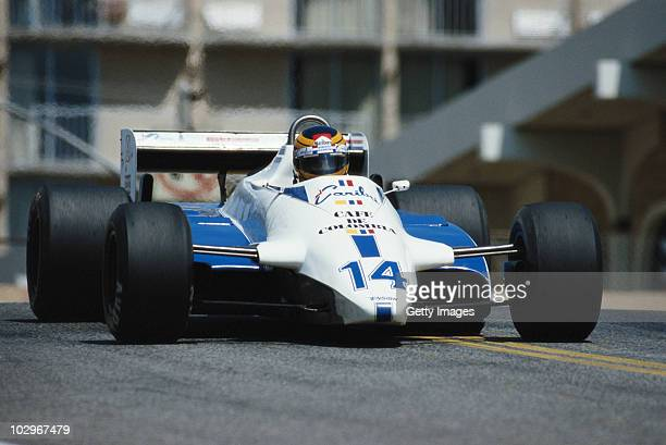 Roberto Guerrero drives the Ensign Racing Ensign N181 Ford Cosworth during the United States Grand Prix West on 4 April 1982 at the Long Beach street...